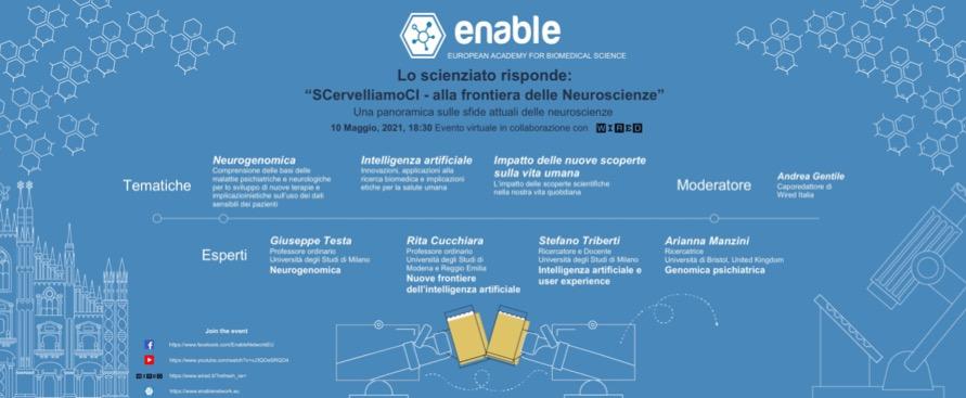 SCervelliamoCI, un incontro in streaming per conoscere meglio le neuroscienze