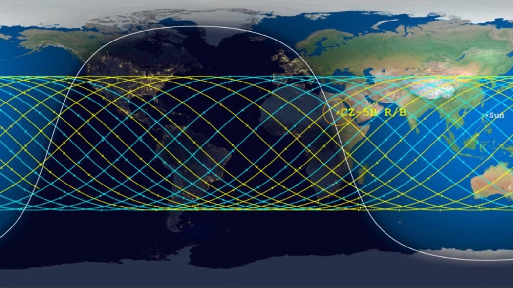 Il razzo cinese fuori controllo dovrebbe cadere sulla Terra tra l'8 e il 9 maggio