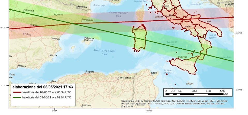 Razzo cinese, l'impatto si avvicina: ansia al Sud Italia, ecco la previsione di Space Track