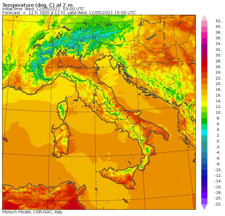Meteo, le temperature massime di oggi: +23°C a Messina e +21°C a Reggio Calabria