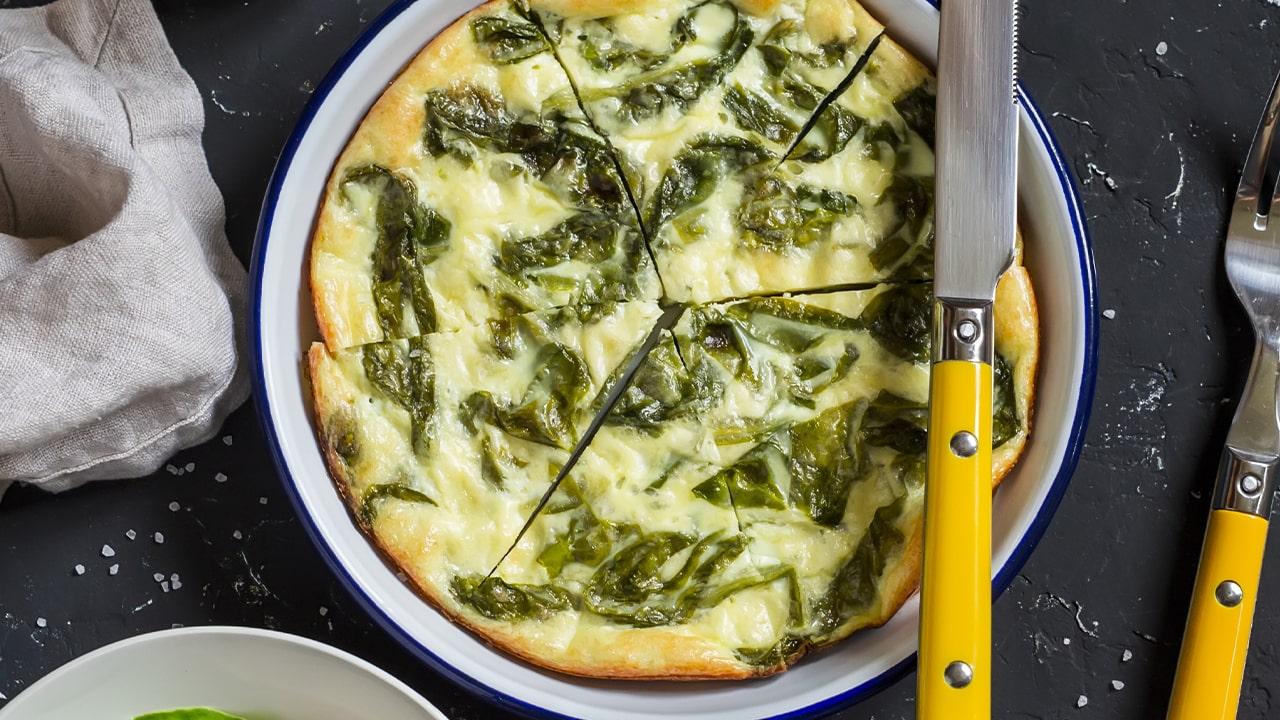 Frittata di ricotta e spinaci, il finger perfetto per cena