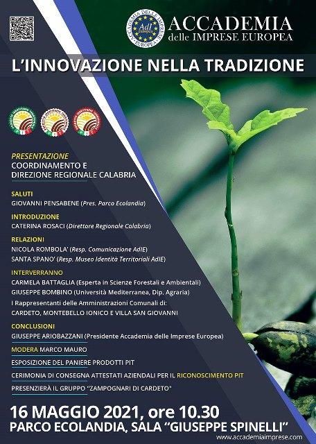 """""""L'Innovazione nella Tradizione"""", evento organizzato da Accademia delle Imprese Europea a Reggio Calabria"""