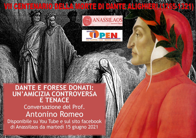 Reggio Calabria: secondo incontro dell'Associazione Anassilaos dedica a Dante