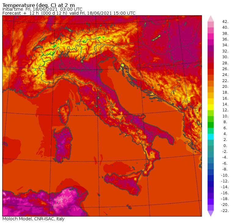 Meteo, le temperature massime di oggi in Italia: picchi di +33°C in Sicilia e +32°C in Calabria