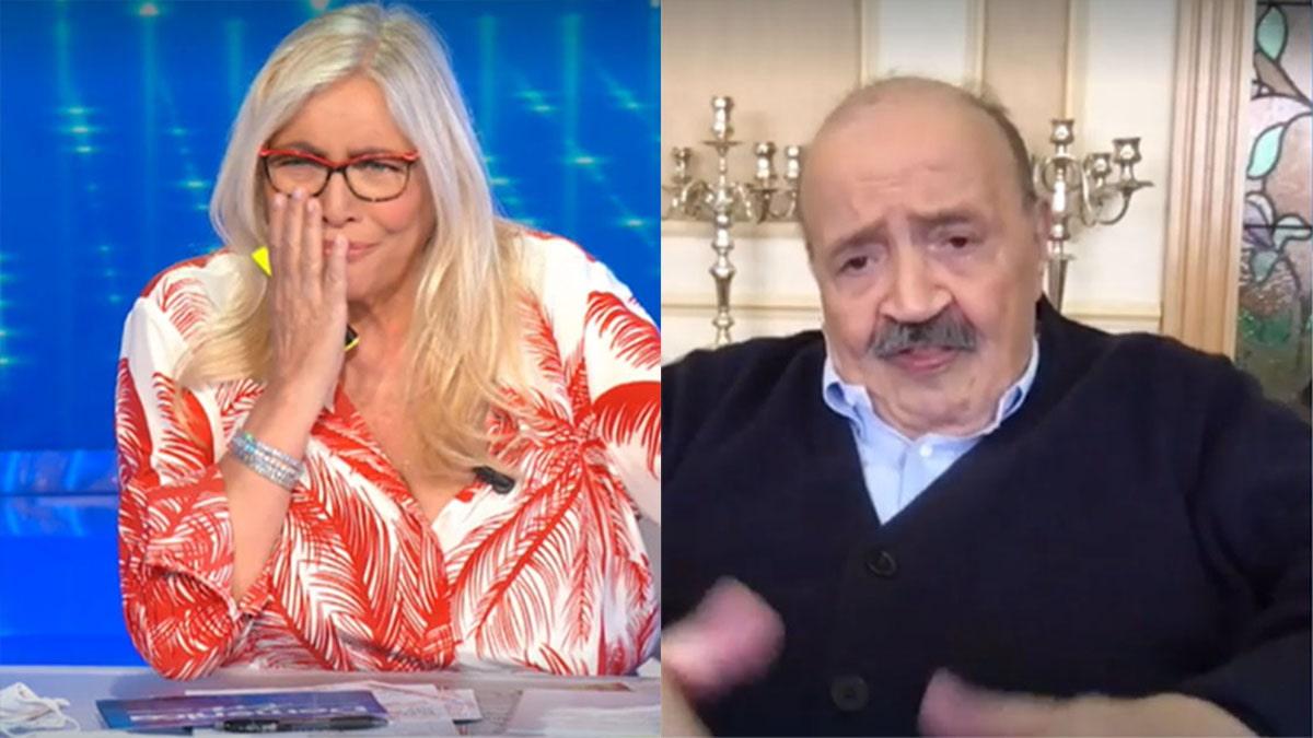 """Maurizio Costanzo, a Domenica In, Mara Venier si commuove e piange e lui le dice: """"Falla finita"""""""