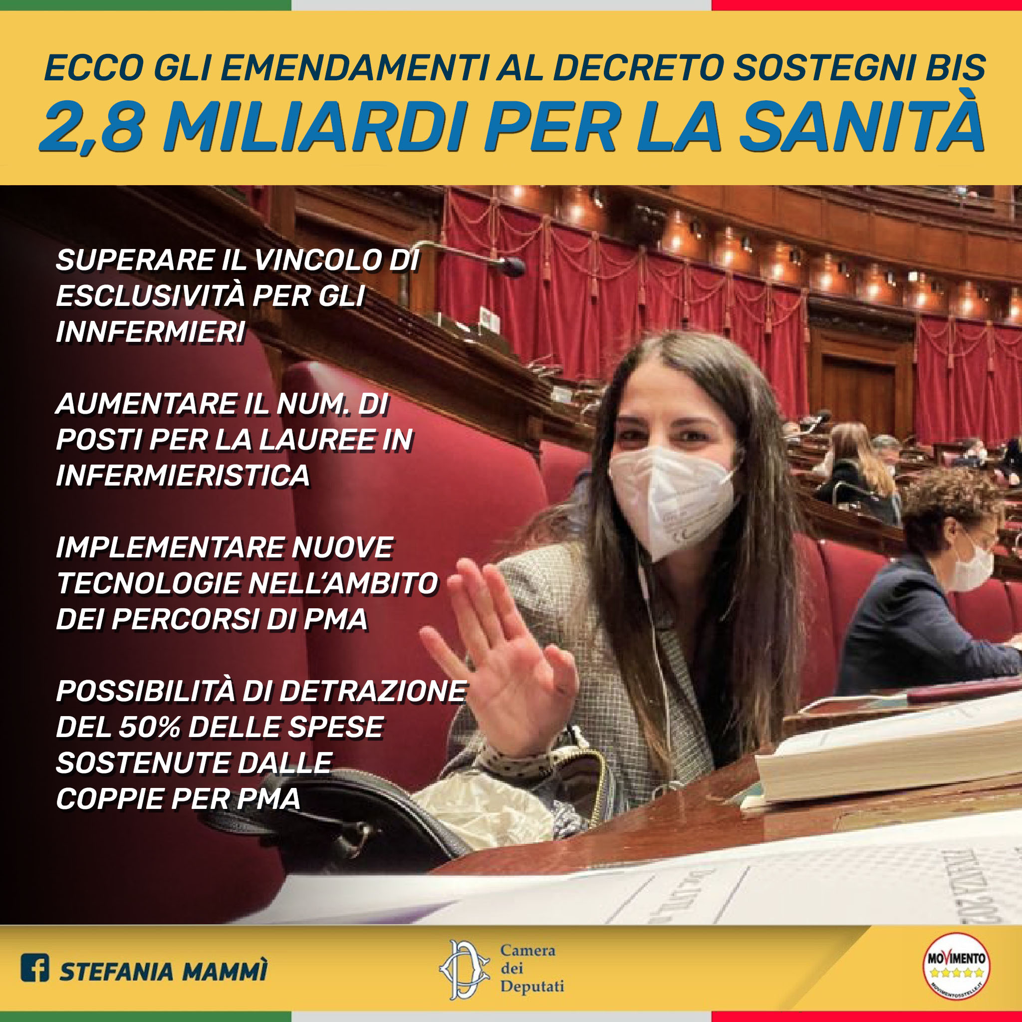 dl-sostegni-–-on.-mammi-(m5s):-7-emendamenti-dedicati-a-operatori-sanitari-e-alla-tutela-delle-coppie-nei-percorsi-di-pma