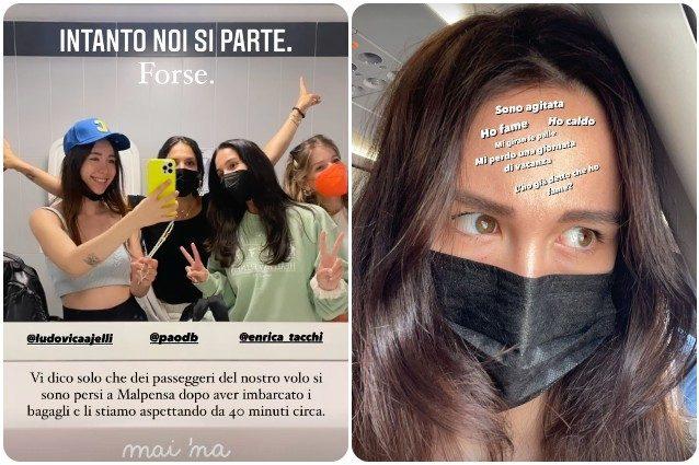 """Disavventura per Aurora Ramazzotti in aeroporto: """"Se non succede qualcosa non è il mio viaggio"""""""