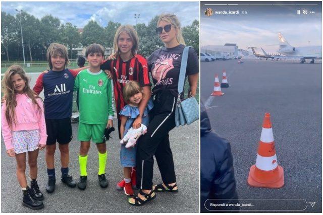 Addio Mauro Icardi, Wanda Nara è tornata a Milano con i figli