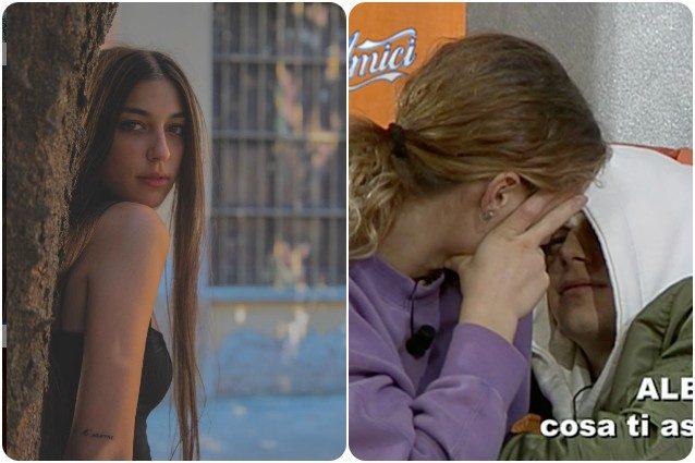 Albe e Serena si baciano ad Amici, la reazione di Giulia la fidanzata del cantante